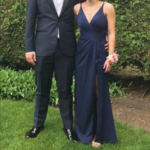 ⚡️Long Navy Prom Dress